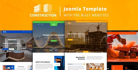 Best Construction Joomla Template