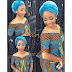 Check Out This Lovely Ankara Skirt and Blouse With Turban Headwrap