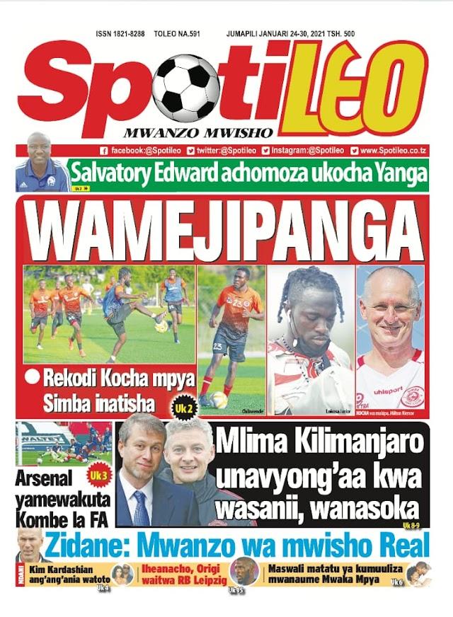 Habari kubwa za Magazeti ya Tanzania leo January 24, 2021