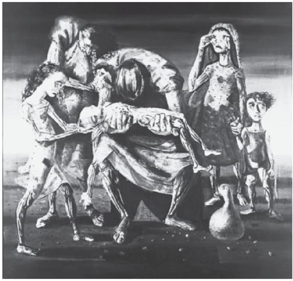 PORTINARI, C. Criança morta. Óleo sobre tela, 180 x 190 cm. Masp, São Paulo, 1944.