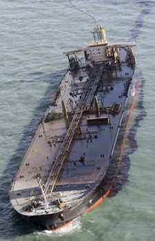Tanker ship accident in South Korean waters