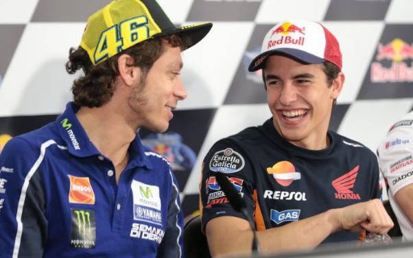 Perdamaian Yang Abadi Valentino Rossi Dengan Marc Márquez