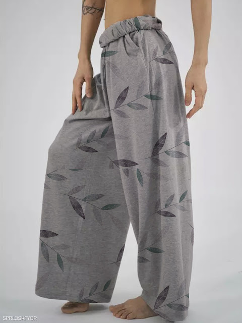 Fashion loose printed casual pants