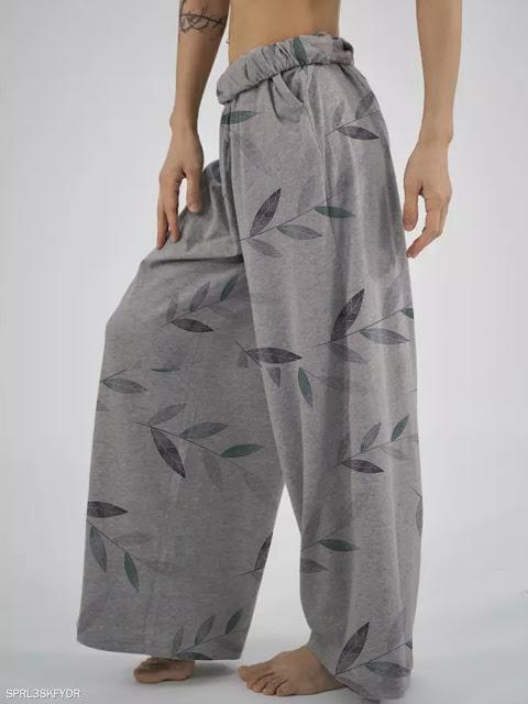 Fashion loose printed casual pants