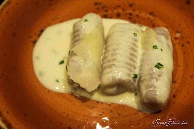 Purple Potato Gnocchi with Oregano smoke and Citrus Chive cream Recipe