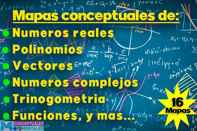 Mapas conceptuales de matemáticas nivel bachillerato