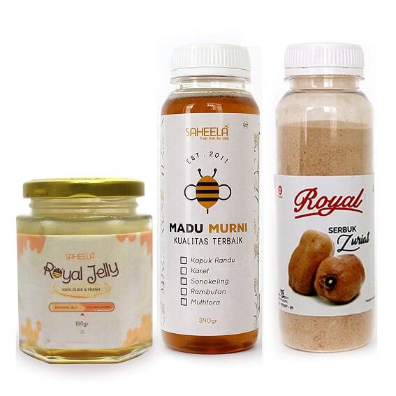 paket promil | buah zuriat | serbuk zuriat | royal jelly | madu murni | promil alami |
