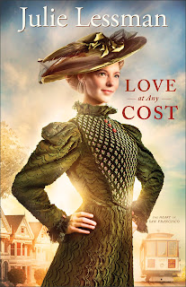 'LOVE AT ANY COST,' BY JULIE LESSMAN. Review of the 2013 historical novel, book one in the Heart of San Francisco series. Text © Rissi JC
