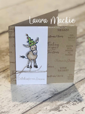 Stampin up darling donkeys Christmas card