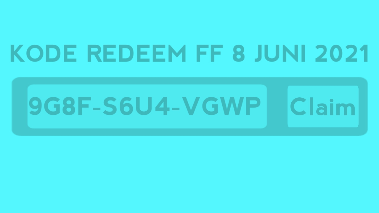 Redeem FF code June 8, 2021 Officially by Garena (still active)