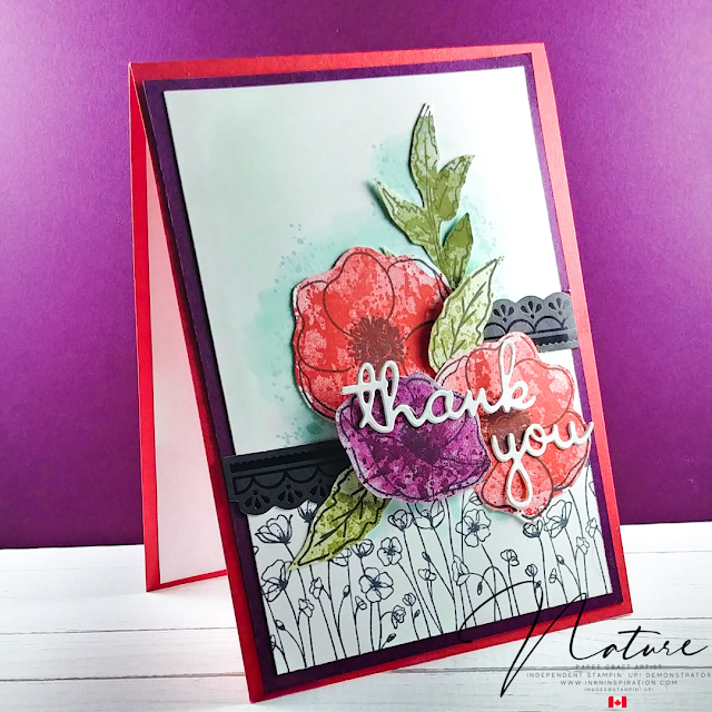 Peaceful Poppies Thank You Card