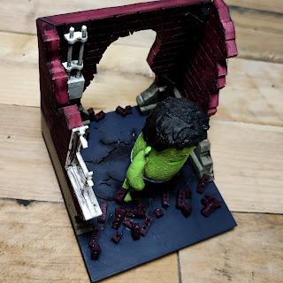 The Hulk 3D printed diorama