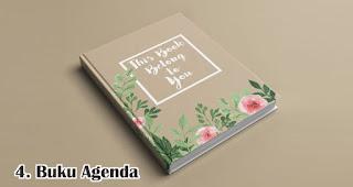 Buku Agenda merupakan salah satu pilihan isian hampers menarik untuk awal tahun
