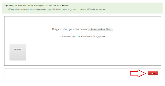 klik next untuk melanjutkan proses upload