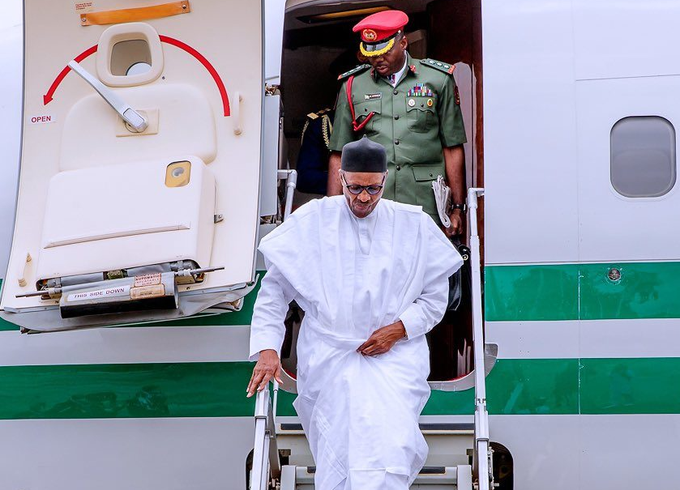 Buhari Arrives Nigeria From  Medical Trip