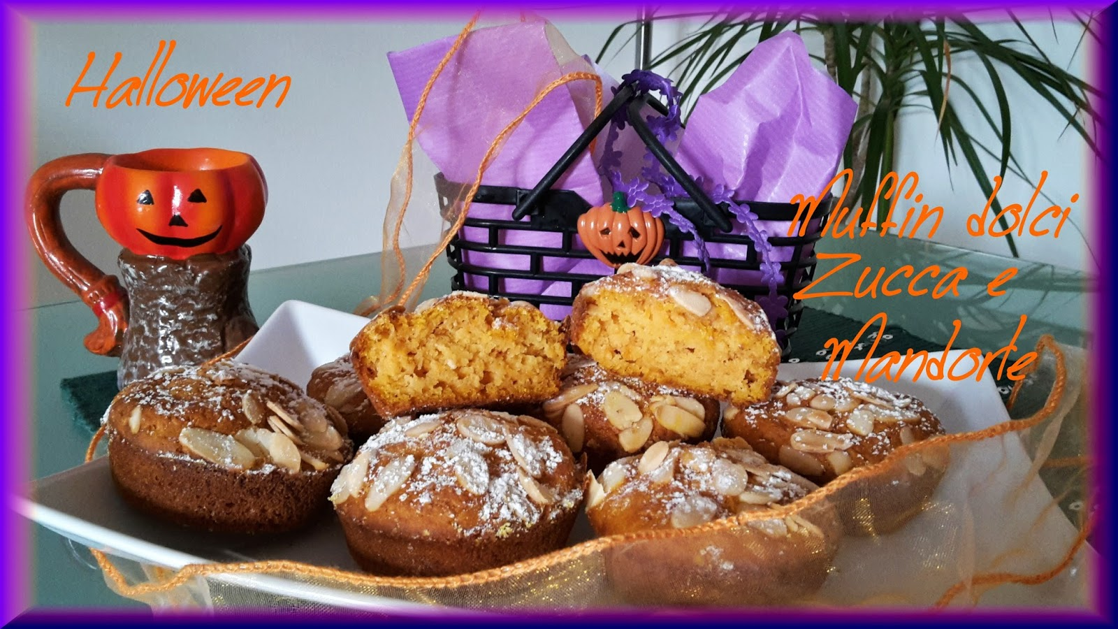 Cortesie In Cucina: Muffin dolci alla zucca e mandorle halloween
