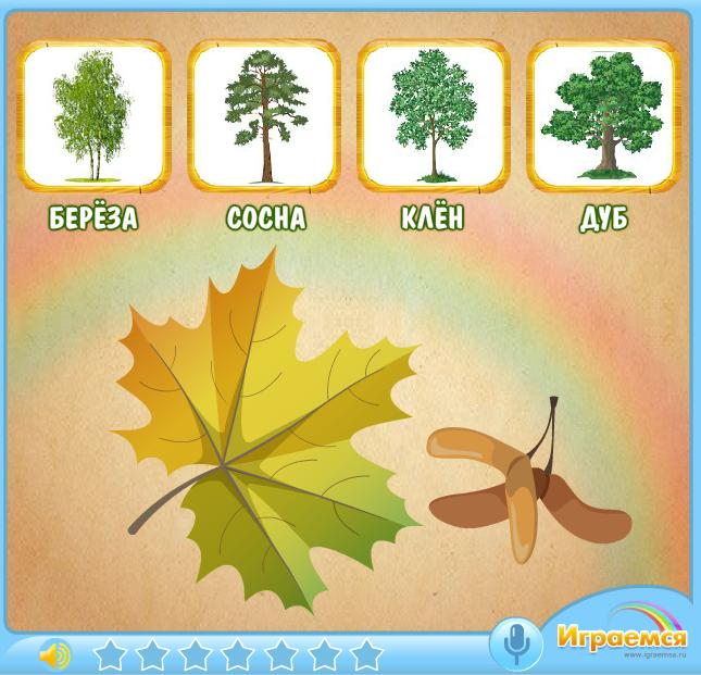 также становятся игра найди дерево по описанию характеристики эпоху