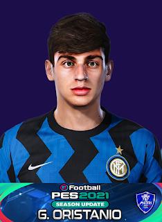 PES 2021 Faces Gaetano Pio Oristanio by Sofyan Andri