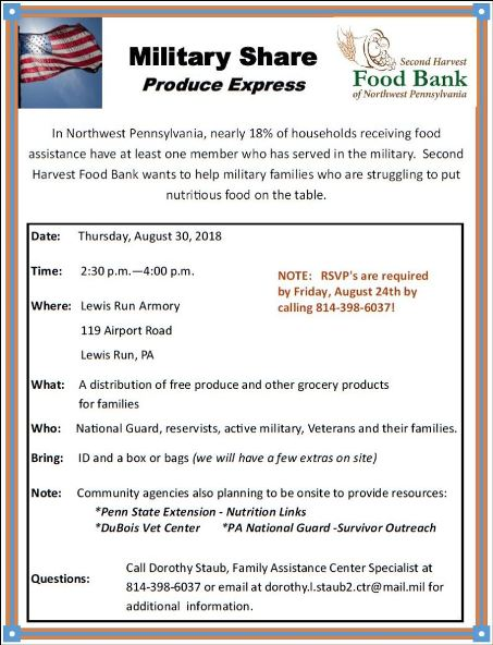 8-30 Military Personnel Food Bank