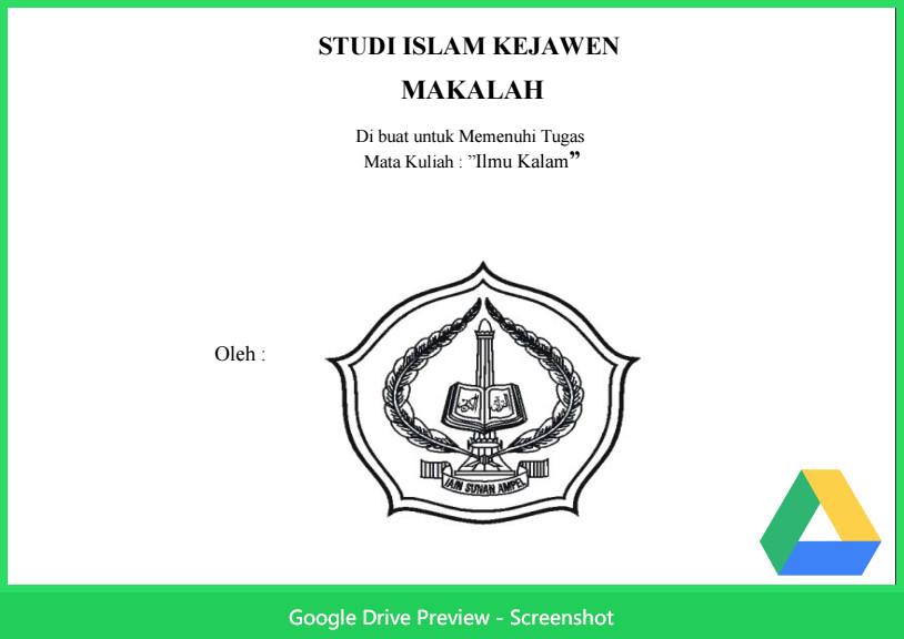 Contoh Makalah Agama Tentang Studi Islam Kejawen