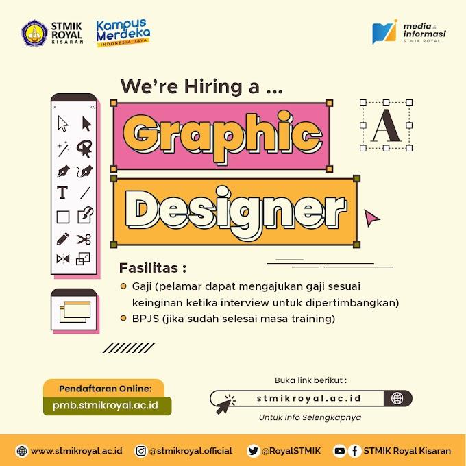 Open Recruitment Graphic Designer STMIK Royal Kisaran