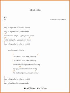 chord paling nakal lagu dangdut ida eliza