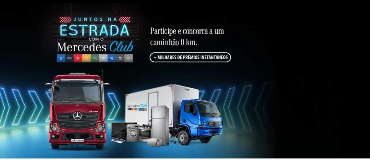 Promoção Mercedes Club 2020 Juntos na Estrada Concorra Caminhão 0KM e Prêmios