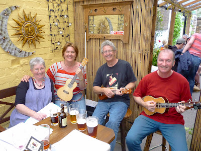 Ukulele player Richard G and friends