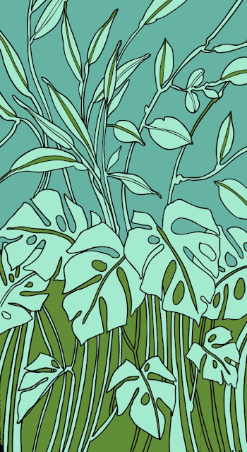 Outline Jungle Forest Leaf Brush Plugin Adobe Photoshop
