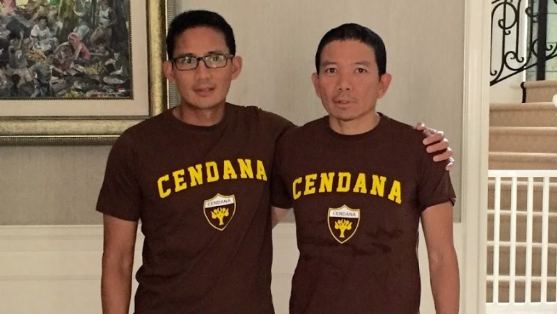 Sandiaga dan kakaknya, Indra Uno