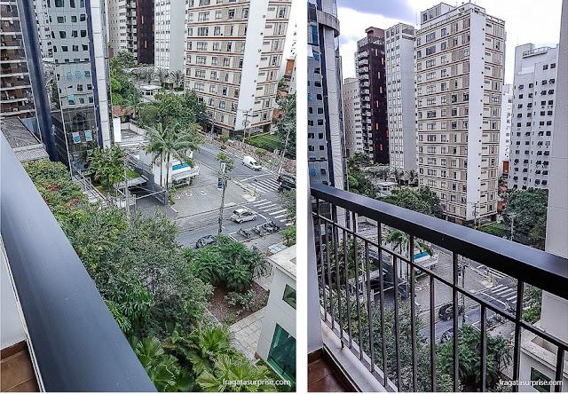 Varanda do apartamento do Hotel Mercure São Paulo Alamedas