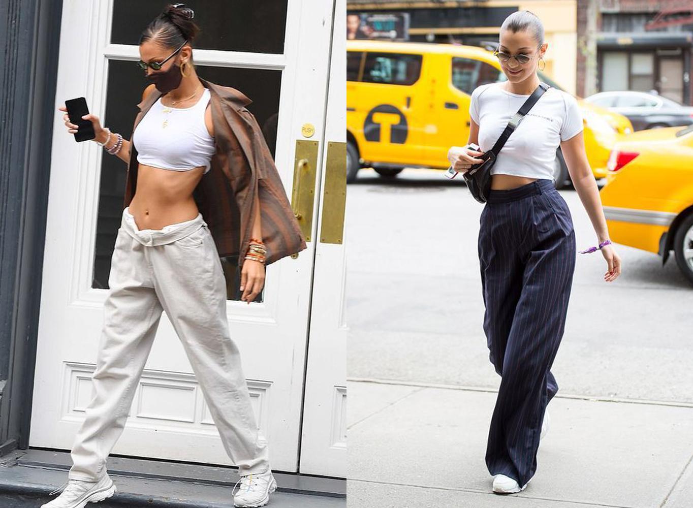 Bella Hadid street style, athleisure
