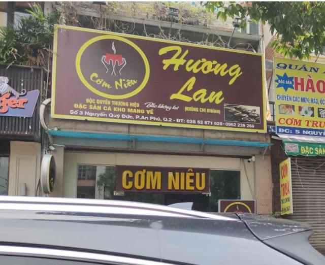 Địa chỉ quán Cơm Niêu Hương Lan: Số 3 Nguyễn Qúy Đức, An Phú, Quận 2
