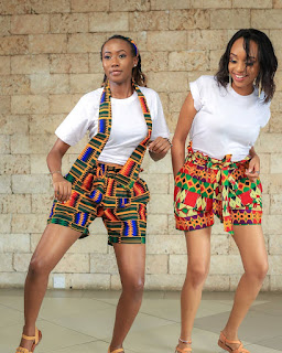 ankara short knickers and top for ladies