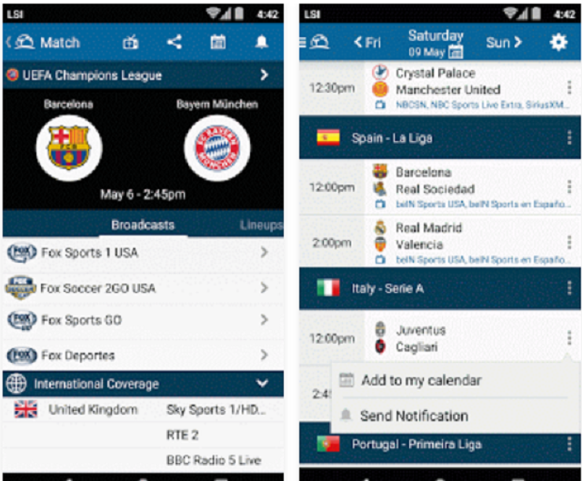 the best Live Football TV Guide app for android | STREAMING Tips