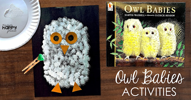 Owl Babies Craft Idea: Painting with Pom Poms