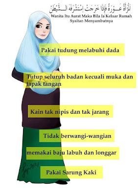Duhai Wanita, Tutuplah Aurat Jika Sayangkan Ayah Dan Suamimu