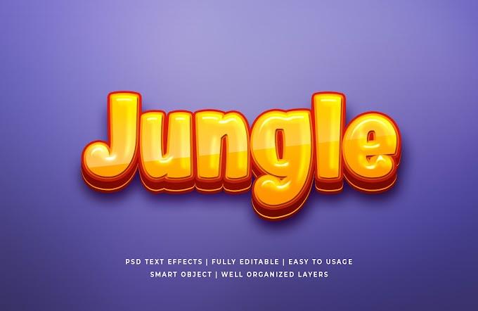 Jungle Text Effect PSD