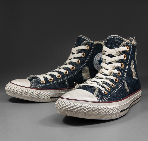 SOLEKITCHEN  Converse - All Star Hi - Denim Distressed - navy denim fbfdcdf95