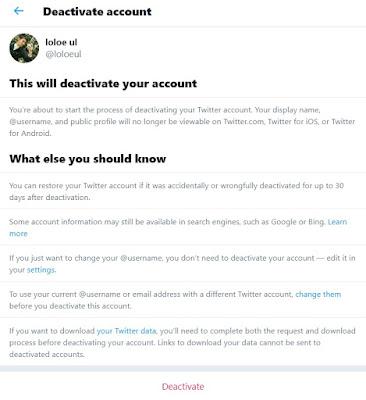 Cara Menghapus Akun Twitter Part 4