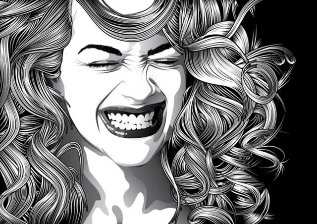 Tutorial en español de Adobe Illustrator para Crear Cabello Estilizado - Retrato 2