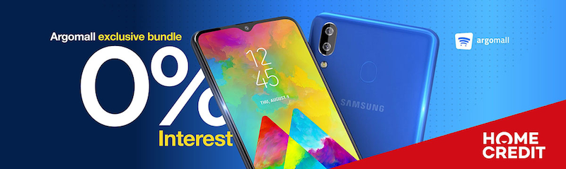 Get Samsung Galaxy M20 at 0 percent interest only at Argomall via Home Credit!