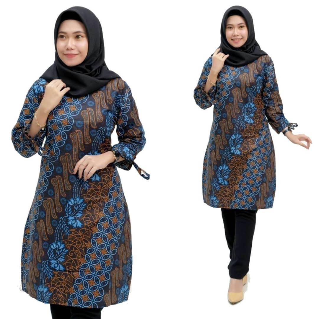 Model Atasan Batik Wanita Modern Terbaik 2020 Desain ...