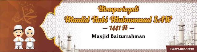 Download Spanduk Peringatan Maulid Nabi 1441 H/2019 M
