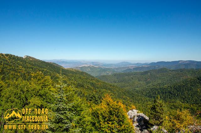 View towards Mariovo region from the peak Sokol.