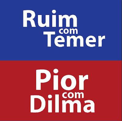 Ruim com Temer, pior com Dilma