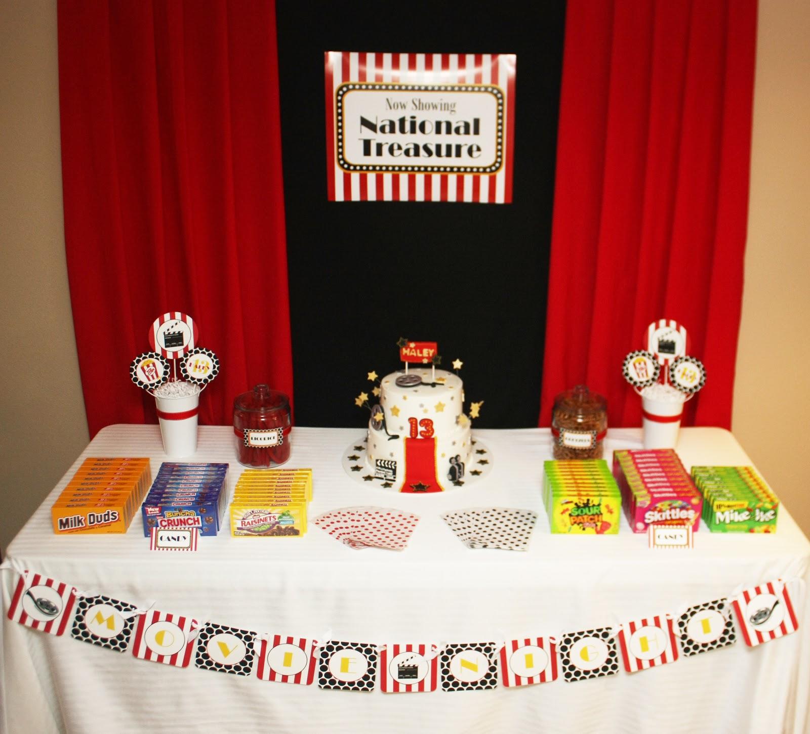 5M Creations: Movie Night 13th Birthday Party