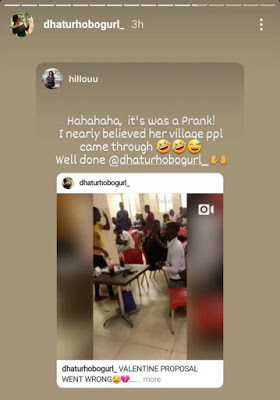 Update: Nigerian Lady Who Ran Mad After Her Boyfriend Proposed To Her Speaks Up