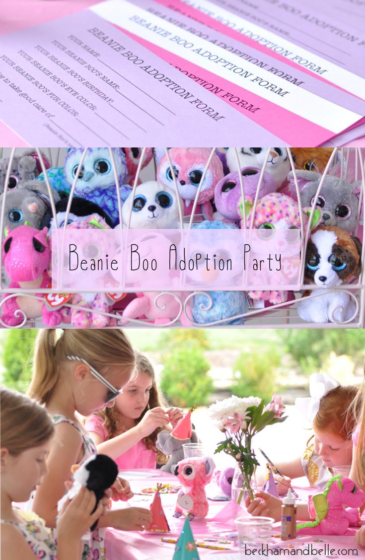 Beanie Boo Adoption Party For Girls Amp Boys Beckham Belle
