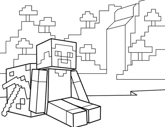 Lego City Kids Desenhos Do Minecraft Para Colorir